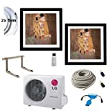 Klimaanlage Komplettset Multisplit LG Gallery Wandgeräte 2x2,6kW