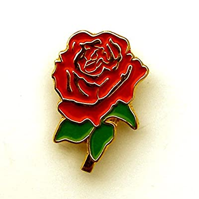 ENGLISH ROSE LAPEL BADGE - England, Rugby, Patriotic, UK Seller from Senlak