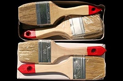 12 x Flachpinsel 60 mm Chinaborste hell Maler Lack Lasur Abwasch Allzweck Einweg Industrie Pinsel Lasurpinsel Lackierpinsel von 1A Malerwerkzeuge - TapetenShop