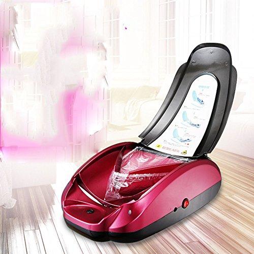 BAIDEFENG Dispensadores Automáticos De Cubiertas De Zapatos Para Uso Médico, Doméstico Y De Oficina (Dispensador De Cubierta De Zapato Rojo + Cubierta De Zapato)