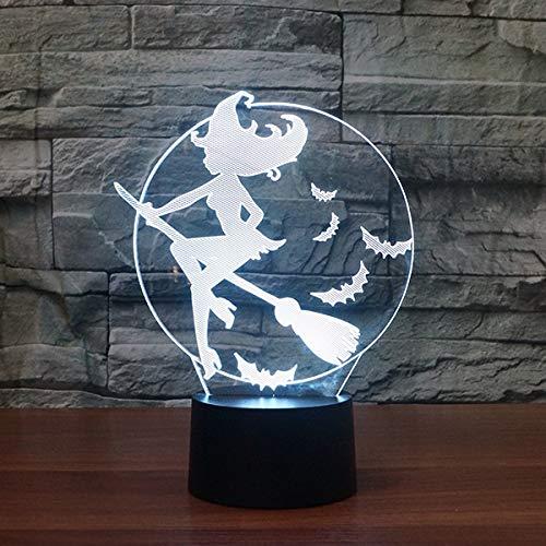 Night Light Home Hexe, die kreative dekorative Tischlampe des Lichtes LED der Nacht 3D anredet