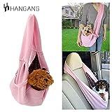 Hangang Borsa a Cani reversibile a mani libere per cani di piccola taglia Borsa da viaggio a tracolla morbida con cuccioli morbidi Gattino Borsa a tracolla biadesiva borsa a tracolla (Pink)