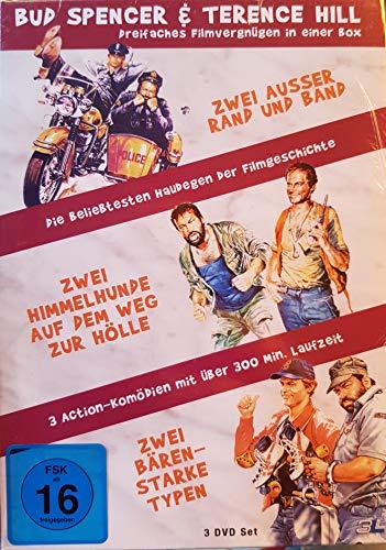 Bud Spencer & Terence Hill 3er DVD Box. Zwei ausser Rand und Band, Zwei bärenstarke Typen, Zwei Himmerhunde auf dem Weg zur Höl