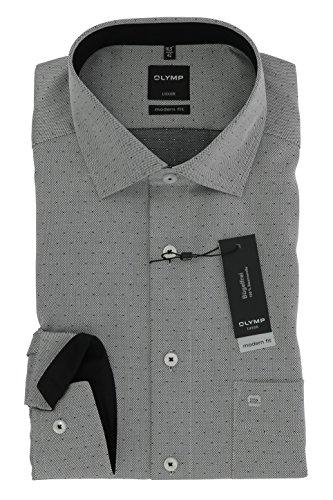 Herren Hemd Luxor Modern Fit Langarm Schwarz