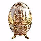 Vintage russische Retro Dekoration Russland Ei Zahnpflegetur golden