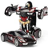 Starter Auto giocattolo-Telecomando auto per ragazzi e ragazze di età compresa tra 3-16 anni One-Button deformazione 360 ° rotante RC Robot Cars