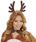 Haarreif Rentiergeweih mit Fliege – Tolles Accessoire für Weihnachtsfeier oder Weihnachtsmarkt - 2