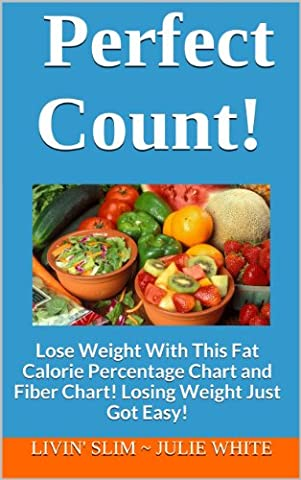 Perfect Count!: Lose Weight With This Fat Calorie Percentage Chart and Fiber Chart! Losing Weight Just Got Easy! (Livin' Slim Book