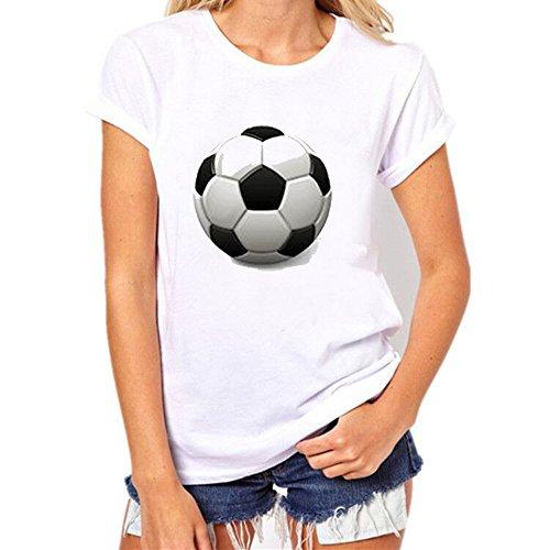 Malloom® Fußball T-Shirt Personalisiert als Weihnachtsgeschenk Männer Frauen T-Shirts Shirt Fußball Print Kurzarm T-Shirt Bluse Herren Russland World Cup T-Shirt Shirt Fußball Printed Kurzarm Shirt