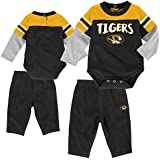 "NCAA By Outerstuff NCAA Missouri Tigers Infant""Halfback"" Short Sleeve Bodysuit & Pant Set, Black, 24 Months"