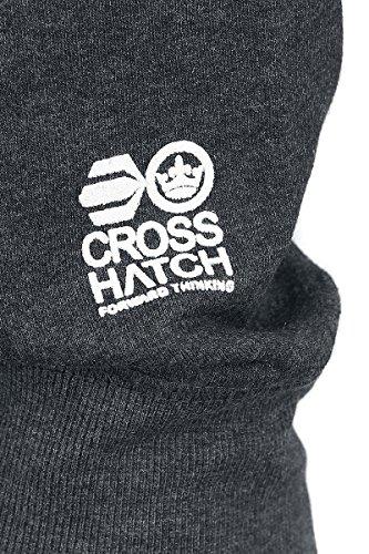 Crosshatch Intersink Felpa con cappuccio carbone Carbone