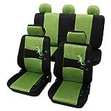 Petex 24874813 Sitzbezugset Universal Gecko Größe SAB 1 Vario, 11-teilig, grün