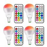 (4Pack)RGBW Lampe de Table LED, Sunpion 3W Multicolor Couleurs Changement LED Bulb, Lampe d'ambiance