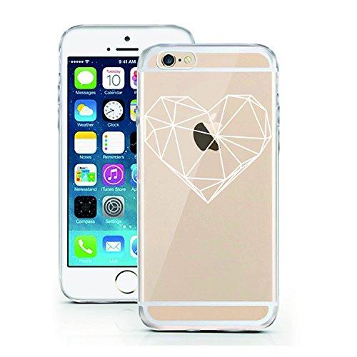 licaso iPhone 7 Hülle Apple iPhone 7 aus TPU Silikon Poly Heart Herz 3D Art Muster Ultra-dünn schützt Dein iPhone 7 & ist stylisch Schutzhülle Bumper in Einem (iPhone 7, Poly Heart) -