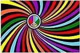 Rainbow Circler Peace Flag