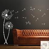 DESIGNSCAPE® Wandtattoo Pusteblumen 55 x 160 cm (Breite x Höhe) creme DW804023-M-F102