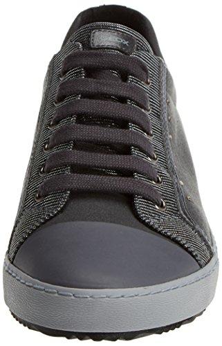 Geox J Kalispera J, Sneakers Basses Mixte Adulte Gris (Dk Grey)
