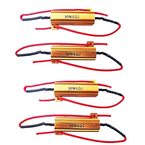 1156 Support (E Support™ 4 X KFZ Auto 50W 6 Ohm Lastwiderstand Widerstand für LED SMD Blinker)