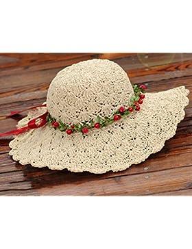 cappello di paglia intrecciata a mano estate femminile Protezione solare Protezione solare Spiaggia Vacanza Tempo...
