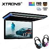 """XTRONS 17,3"""" Digital TFT FHD 16:9 Bildschirm für Auto Bus unterstützt 1080P Video Auto Overhead Player Auto Monitor mit HDMI Port Automosphäre LED Licht Windows CE für Urlaub (CM173HD+DWH003+DWH004)"""