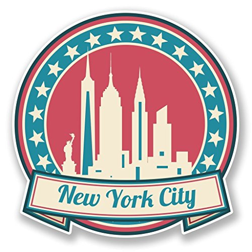 Preisvergleich Produktbild 2x New York Amerika USA vinyl Aufkleber Aufkleber Laptop Reise Gepäck Auto Ipad Schild Fun # 6736 - 10cm/100mm Wide