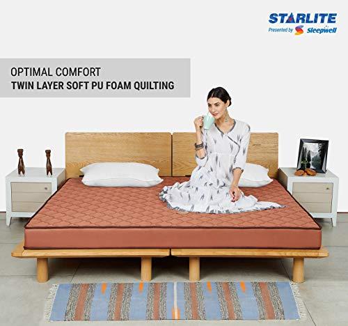 Sleepwell Starlite Glamour Extra Firm Bonded Foam Mattress (72x48x5) Image 4