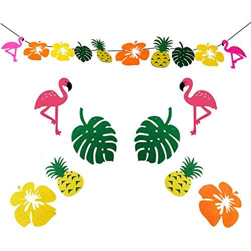 39d9ddc0f0 Winterworm Luau Party Supply Hawaii - Guirnalda de piña tropical con hojas  de flamenco para Hawaii