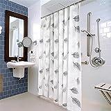 QEWA Duschvorhänge Shower Curtains PEVA Dicker Schimmel-wasserdichte Bad Bad Vorhang Barriere Vorhänge (78,74 * 78,74 Zoll) , 240*200cm