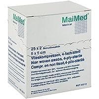VLIESKOMPRESSEN 5x5 cm steril 50 St Kompressen preisvergleich bei billige-tabletten.eu