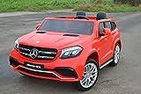 SL Lifestyle Neu! Kinderauto Elektroauto R/C Mercedes Rot GLS63 Echter Allradantrieb mit Zwei 12V/7Ah Akkus