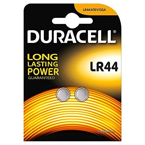 Duracell - Duracell LR44 Lot de 2 piles/1,5 V Pile alcaline utilisé en Jouets animaux chiens chats colliers carillons de porte clés de voiture Casio Texas Ordinateur calculatrices caméras briquets Piles bouton alcalines