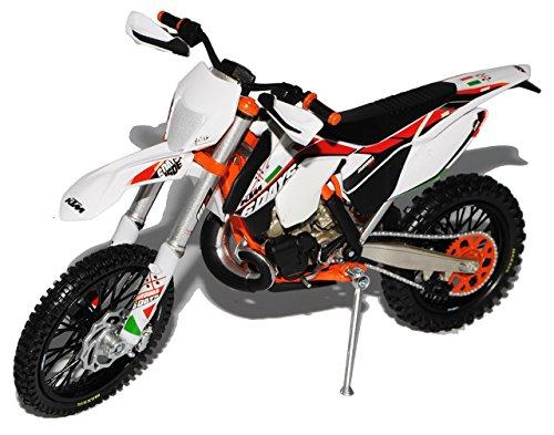 Preisvergleich Produktbild KTM 300 EXC Six Days Sardinien Weiss 2014 Enduro 1/12 KTM Modell Motorrad mit individiuellem Wunschkennzeichen