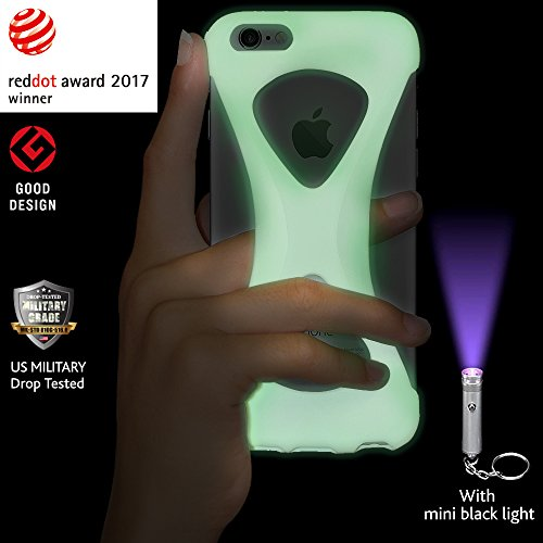 Custodia Case Palmo per iPhone 6s/6 (GiD - Glow in the Dark) - Vincitrice del Premio Red Dot: Product Design 2017 e del GOOD DESIGN AWARD 2015 – Test di caduta da parte delle forze armate USA – Contro GiD