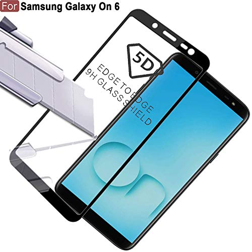 Cedo Xpro 5D Edge to Edge 9H Tempered Glass Screen Protector for Samsung Galaxy On6 2018 (Black)