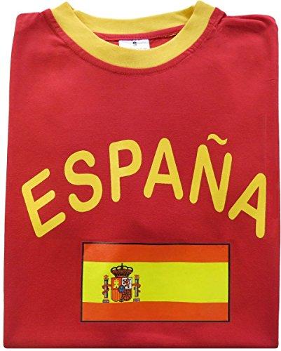 Spanien-fußball-t-shirt (Sonia Originelli Fan-Shirt España Unisex Fußball WM EM Herren T-Shirt Größe L)