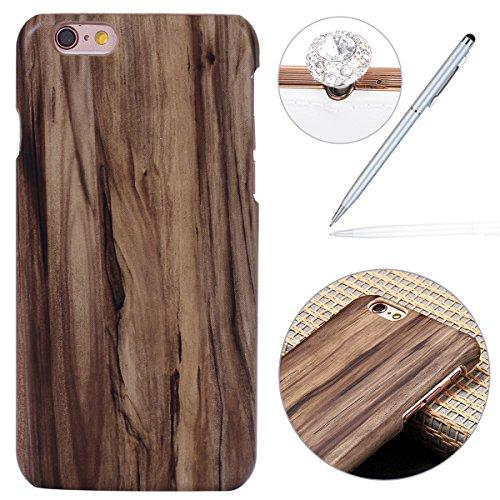 Felfy Hülle für iPhone 6,iPhone 6S Schutzhülle,iPhone 6 Wood Case,iPhone 6S Hülle Holz Slim Luxury Schutzhülle mit PC Plastic Hart Back Holz Cover Einzigartige Langlebige Dünne Holz Mobile Bumper Holz - Holz Dünnes