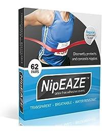 nipeaze–Pack de 4Valor–El original Transparente nip–Protector de Tetina roce Prevención–ultra-marathon Running Gear, transparente
