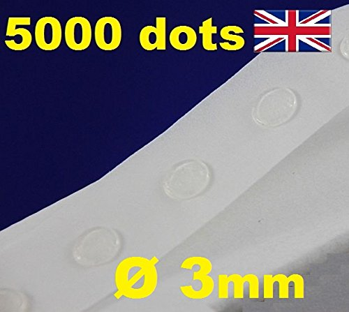 5000 Glue Dots Sticky Craft transparent Karte machen Scrap 3 herausnehmbaren mm TACK Glu Punkte -