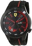 Ferrari 0830339 RedRev Evo - Reloj analógico de pulsera para hombre (cuarzo, correa de silicona)