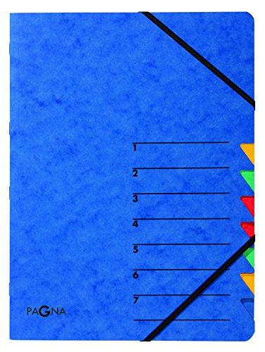 Pagna Ordnungsmappe Easy (Sammelmappe, 7 Fächer, 1-7) blau
