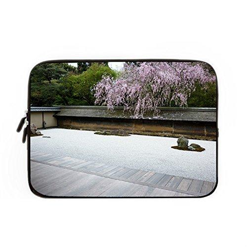 hugpillows-funda-para-portatiles-bolsa-jardin-zen-japones-grava-funda-de-portatil-casos-con-cremalle
