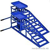 2 Stück Wagenheber Auffahrrampe blau KFZ Tragkraft je 2000 kg
