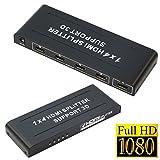 Splitter répartiteur 1à 4ports HDMI Full HD, 1080p, 3D, alimenté, amplificateur