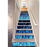 YSFU Wandsticker 3D Aufkleber Selbstklebende Treppen Aufkleber Für Treppenhaus DIY Abnehmbare Dekoration Flur Schritt Boden PVC Aufkleber Papier