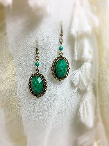 earring-green-vintage-victorian-bohemia