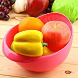#7: Machak Plastic Washing Bowl Strainer Cum Basket for Fruits, Vegetables, Rice (Color May Vary)