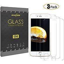 3-Unidades Protector de Cristal Templado para iPhone 6 / 6s,NONZERS Protector de Pantalla con 3D Tacto ,9H Dureza , Fácil de Instalación Sin Burbujas,Vidrio Templado Duradero,Resistente a Arañaozos y Golpes (4.7 pulgadas)