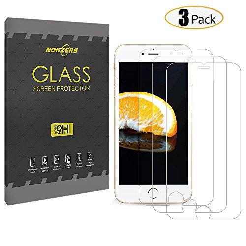 3-Unidades iPhone 6 / 6s Cristal Templado, NONZERS Protector de Pantalla con 3D Tacto ,9H Dureza , Fácil de Instalación Sin Burbujas,Vidrio Templado Duradero,Resistente a Arañaozos y Golpes (4.7 pulgadas)