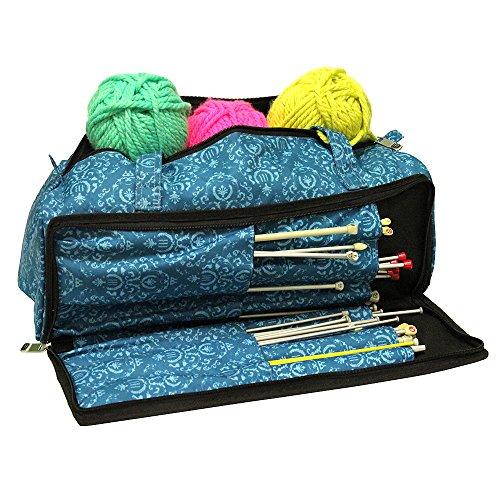 Roo Beauty - Stricktasche für Näh- und Strickzubehör mit Fächern für Nadeln, Tasche in Imperial-Aquamarin