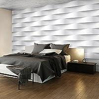 murando - Fototapete 150x105 cm - Vlies Tapete - Moderne Wanddeko - Design Tapete - Wandtapete - Wand Dekoration - Abstrakt weiß 3D f-B-0060-a-a